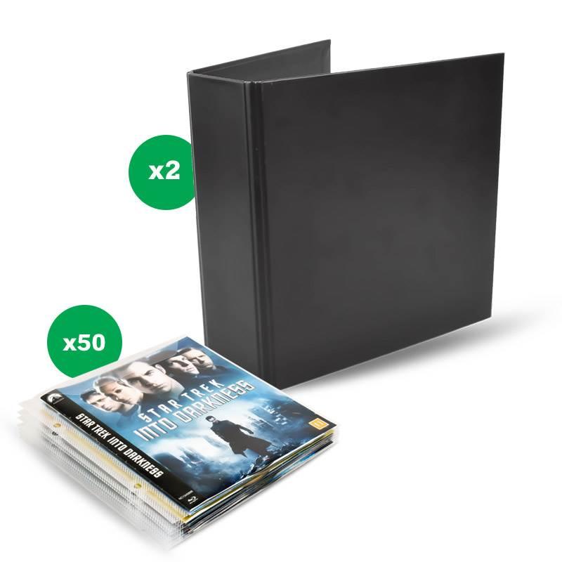 pack de rangement blu-ray: 50 pochettes+2 classeurs